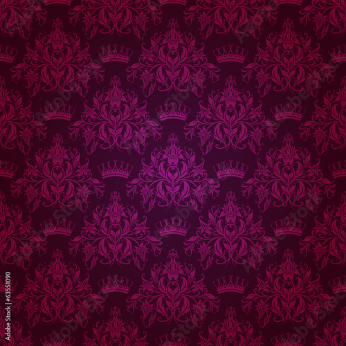 Damask seamless floral pattern.