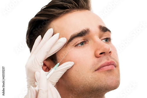 Plastic surgery. Attractive, handsome man