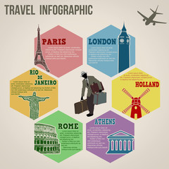Travel info graphics web design