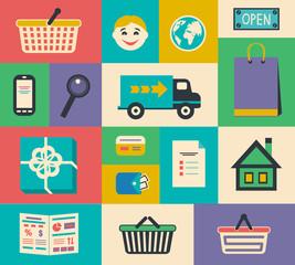 Set of e-commerce interface elements