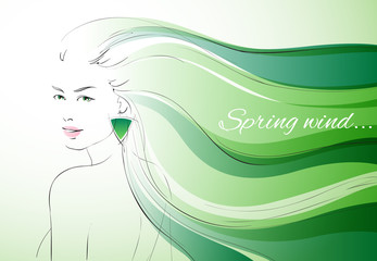 Wind of spring background