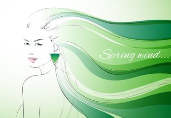 Wind of spring background