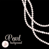 Fototapety Beauty Pearl Background Vector Illustration