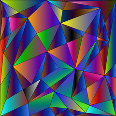 Diamond cubism funny triangles background