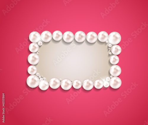 Beauty Pearl Frame Background Vector illustration