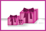pink gift boxes_vector - 63552021