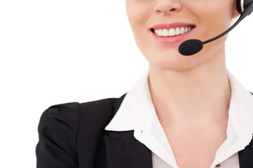 Female operator.