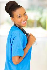 afro american doctor portrait