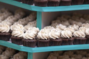 Trays of Cupcakes Closeup