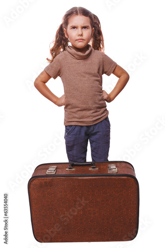 displeased evil child distraught little girl failure to travel s