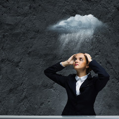 Depressed businesswoman