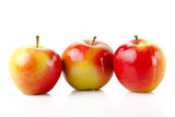 fresh colorful apples isolated on white background