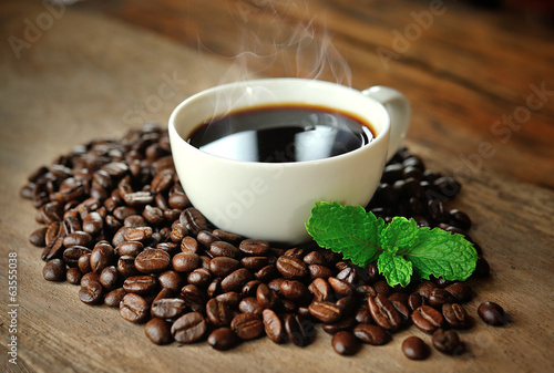 Image of a cup of coffee with mint