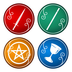 set of tarot symbol