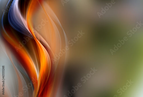 Awesome abstract fire waves