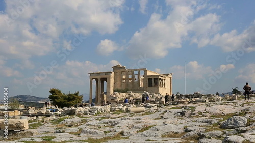 time lapse Ancient Acropolis, tracking shot