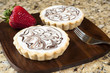 White Chocolate Tarts on Granite