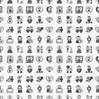 seamless doodle people pattern