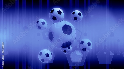 Soccer ball strobe loop animated background
