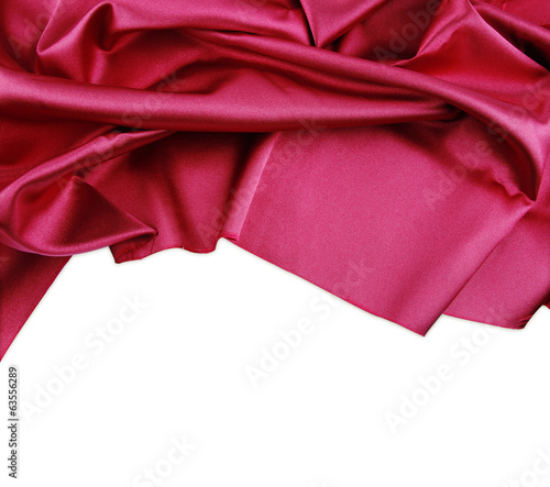 Red silk fabric