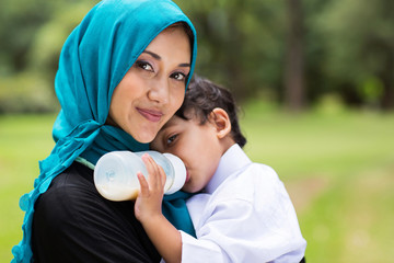 Arabic mother and baby boy