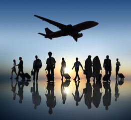 Group of Business People Traveling