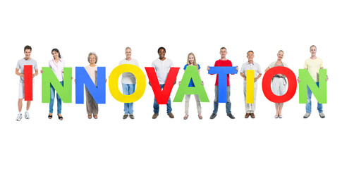Group of People Holding Innovation