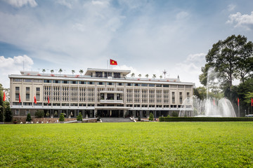 Reunification Palace, landmark in Ho Chi Minh City, Vietnam.