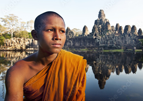 Portrait of young Monk at Angkor Wat, Cambodia