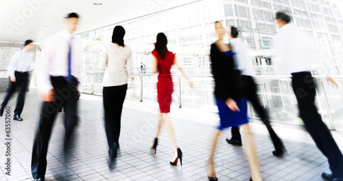Business People Rushing in Hong Kong