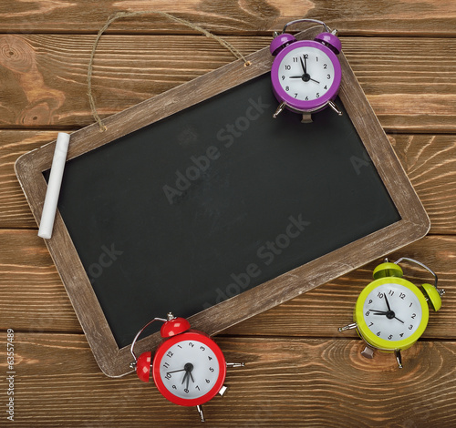 Writing board and clock