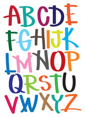 Vector illustrate alphabet