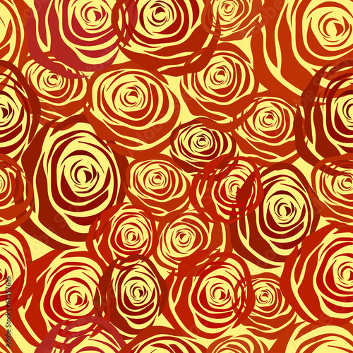 Rose seamless background. many flowers
