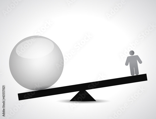 balance sphere and people. illustration design