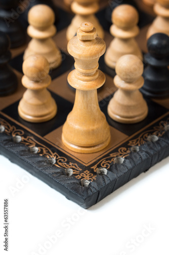 group of Pawns fight against the King
