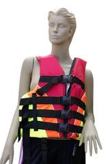 life vest on mannequins