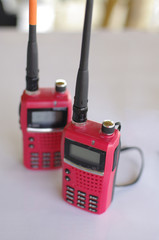 red walky talky