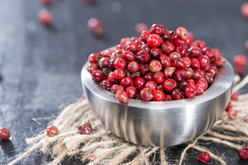 Portion of Pink Peppercorns