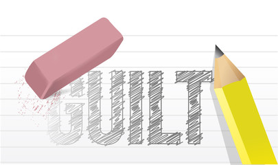 erase your guilt concept illustration design