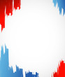 red, white and blue ink illustration design