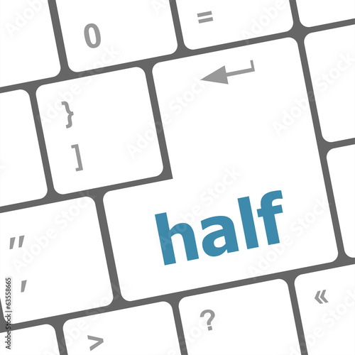 half word on computer pc keyboard key