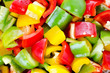 Colorful sliced crop bell peppers