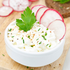 cottage cheese with herbs and spices