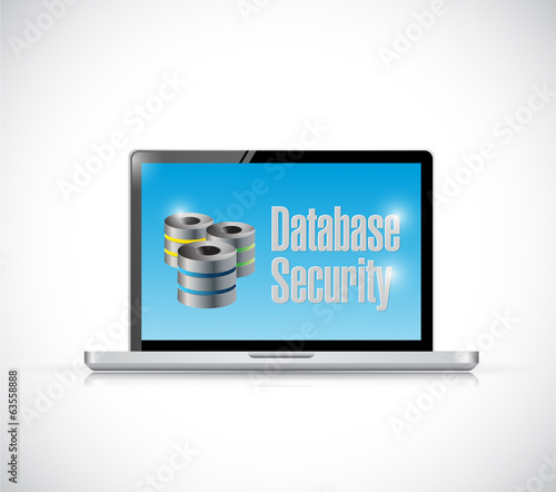 data security laptop illustration design