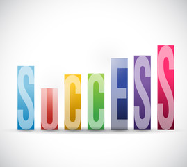 success color graph illustration design