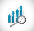 business going up graph. illustration design