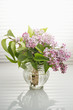 Bouquet Of Spring Purple Lilac In A Vase