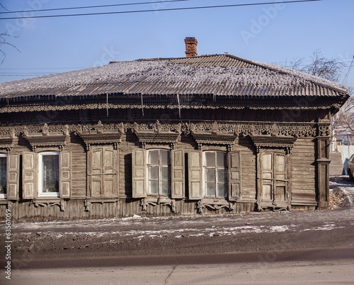 Old house in the Irkutsk city