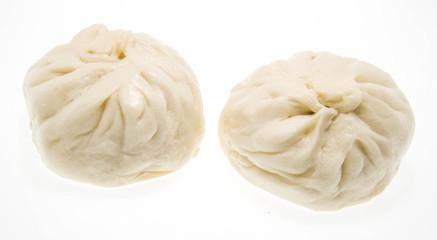 Salapao steamed Chinese bun isolated on white background