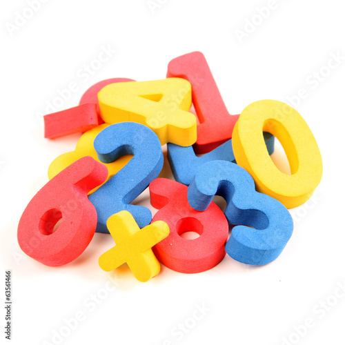 Multicolored learning numbers